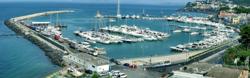 The port of Casamicciola, Ischia island, where the company was based.