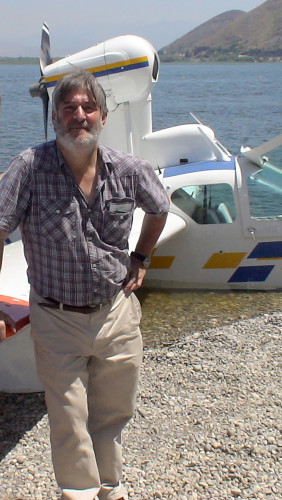 Baj on the shores of Skadar Lake, in Montenegro in 2007. It was the first ever seaplane operation on that lake of the Balkans.